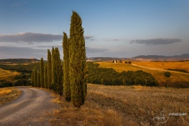 Sonnenuntergang im Val D'Orcia